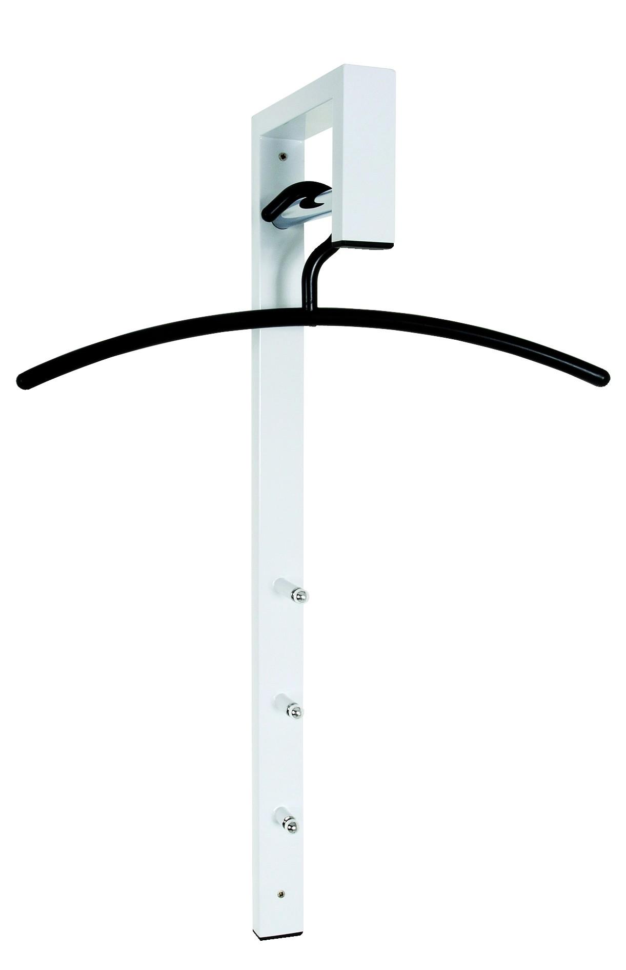 Wand kapstok crane in wit en zwart kantoormeubelen zuid - Kleiderstange wand ...