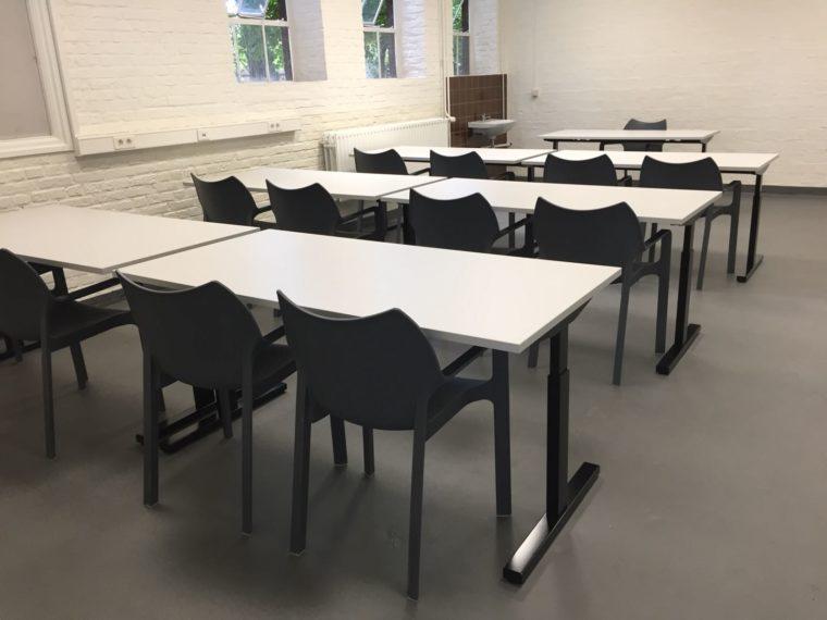 Inrichtingen leslokaal.